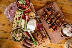传统罗马尼亚食物板材 免版税库存图片