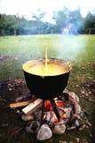 传统罗马尼亚食物,麦片粥 免版税库存照片