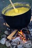 传统罗马尼亚食物,麦片粥 库存照片