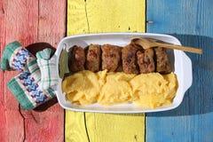 传统罗马尼亚食物, sarmale 图库摄影