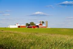 传统美国农场 库存图片