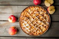 传统美国苹果饼 免版税库存照片