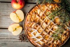 传统美国苹果饼 免版税库存图片