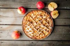 传统美国苹果饼 库存照片