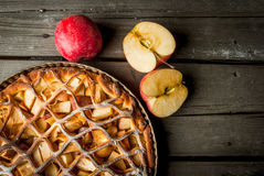 传统美国苹果饼 免版税图库摄影