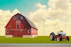 传统美国谷仓 库存图片