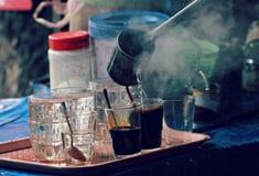 传统老挝咖啡 免版税库存图片