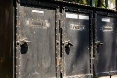传统老letterboxes 免版税库存照片
