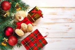 传统背景的圣诞节 免版税库存照片