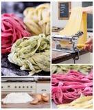 传统自创意大利的意大利面食 免版税库存照片