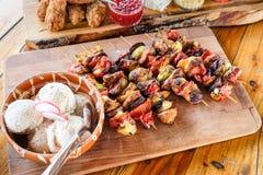 传统自创罗马尼亚和摩尔多瓦食物 库存图片