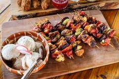 传统自创罗马尼亚和摩尔多瓦食物 免版税库存图片