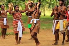 传统舞蹈在马达加斯加,非洲 免版税库存图片