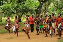 传统舞蹈在马达加斯加,非洲 免版税库存照片