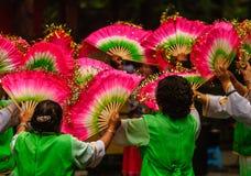 传统舞蹈节日在成都中国 免版税库存图片