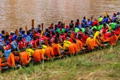传统节日赛艇每年彭世洛9月21日到22日,泰国 库存照片