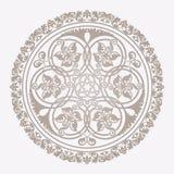 传统花卉伊斯兰教的装饰品 库存图片