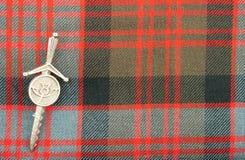 传统苏格兰人唐纳德氏族格子呢羊毛织品 免版税库存照片