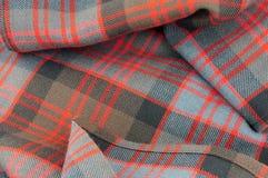 传统苏格兰人唐纳德氏族格子呢羊毛织品 图库摄影