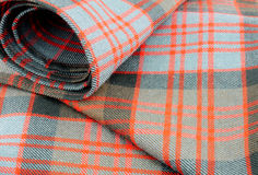 传统苏格兰人唐纳德氏族格子呢羊毛织品 库存照片