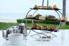传统英国下午茶 免版税库存图片