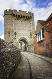 传统英国城堡门议院刘易斯,苏克塞斯 免版税库存图片