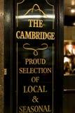 传统英国客栈剑桥在伦敦苏荷区区-伦敦英国 图库摄影