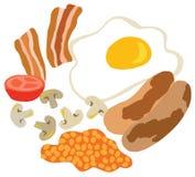 传统英式早餐 皇族释放例证