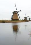 传统荷兰风车 免版税库存照片