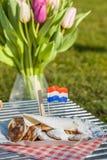 传统荷兰poffertjes 免版税库存图片