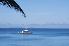 传统菲律宾小船 免版税库存照片