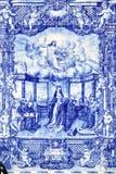 传统葡萄牙tilework azulejo 库存照片