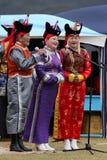 传统蒙古歌手 免版税库存照片