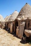 传统蜂箱泥砖房子 免版税图库摄影
