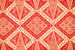 传统蜡染布布裙样式 免版税库存照片