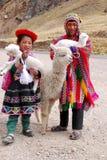 传统衣物的孩子 库存图片