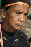 传统衣裳的弗洛勒斯印度尼西亚妇女 库存图片