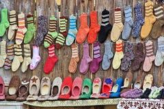 传统袜子和鞋子 库存照片