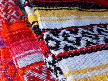 传统被编织的毯子 免版税库存图片