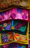 传统被绣的纺织品 免版税库存照片