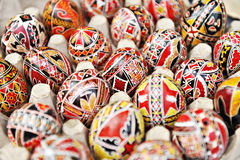 传统被绘的鸡蛋 库存照片