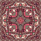 传统装饰花卉佩兹利方巾 库存图片