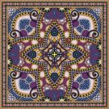 传统装饰花卉佩兹利方巾 免版税库存图片