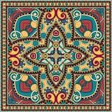 传统装饰花卉佩兹利方巾 图库摄影