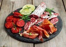 传统西班牙塔帕纤维布或意大利开胃小菜 库存图片