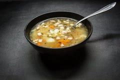 传统豆食物希腊的汤 免版税库存照片