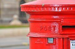 传统配件箱英国的过帐 免版税库存图片