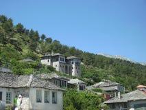 传统阿尔巴尼亚议院, Gjirokaster,阿尔巴尼亚 免版税库存图片