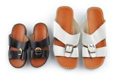 传统阿拉伯凉鞋 免版税库存照片