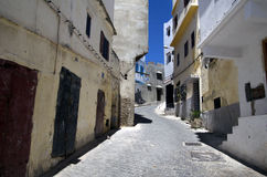 传统阿拉伯房子在唐基尔麦地那在摩洛哥 库存照片
